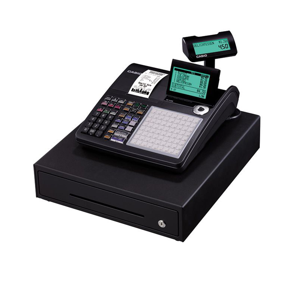 Casio Electronic Cash Register and POS - Black, SE-C450