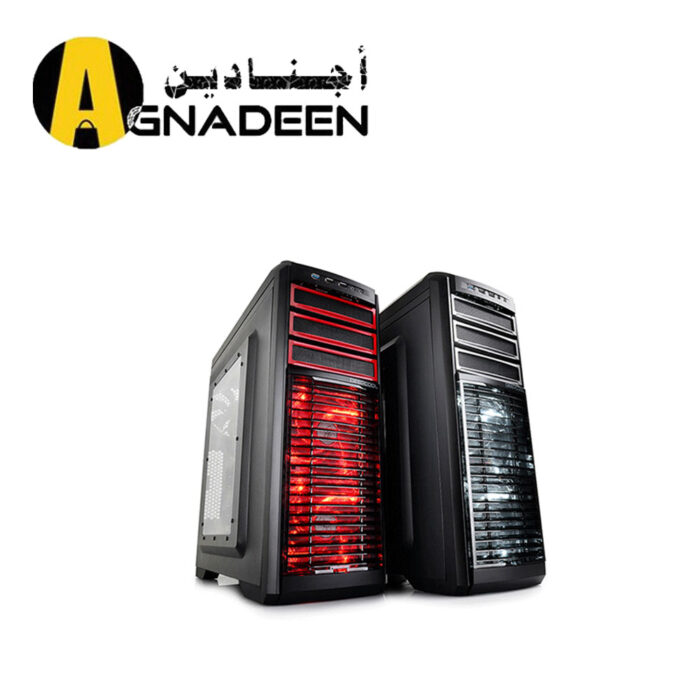DEEPCOOL Gaming Case KENDOMEN Red ATX Mid Tower Computer Case Pre-installed 5 Cooling Fans With Side Window Support