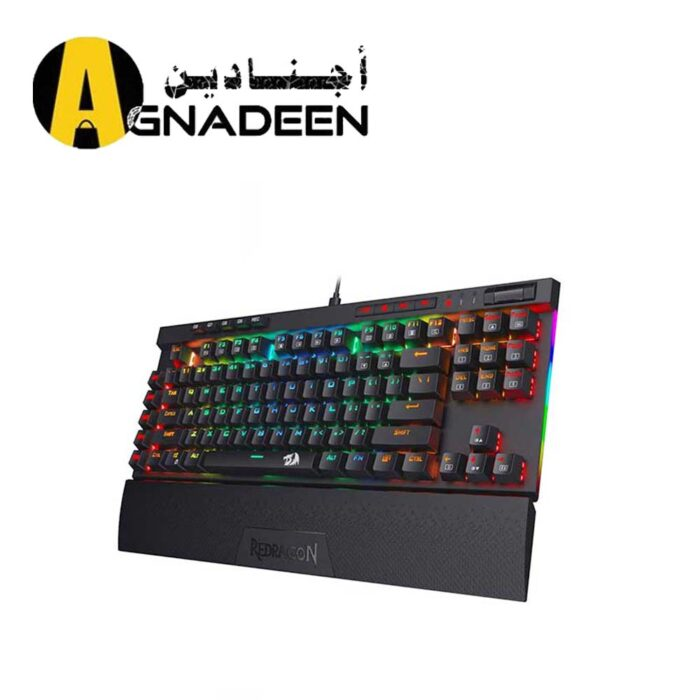 Redragon K587 Magic-Wand 87 Keys Compact RGB Mechanical Gaming Keyboard Type-C Keyboard Detachable Wrist Rest Blue Switches