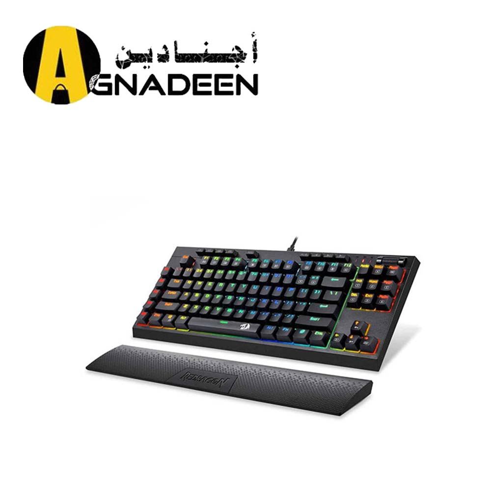 Redragon K588 RGB Backlit Mechanical Gaming Keyboard with Programmable Keys Macro Recording Blue Switches