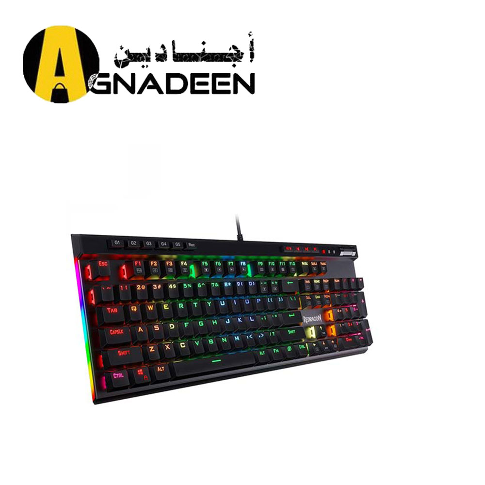 Redragon K580 VATA RGB LED Backlit Mechanical Gaming Keyboard Dedicated Media Controls Blue Switches
