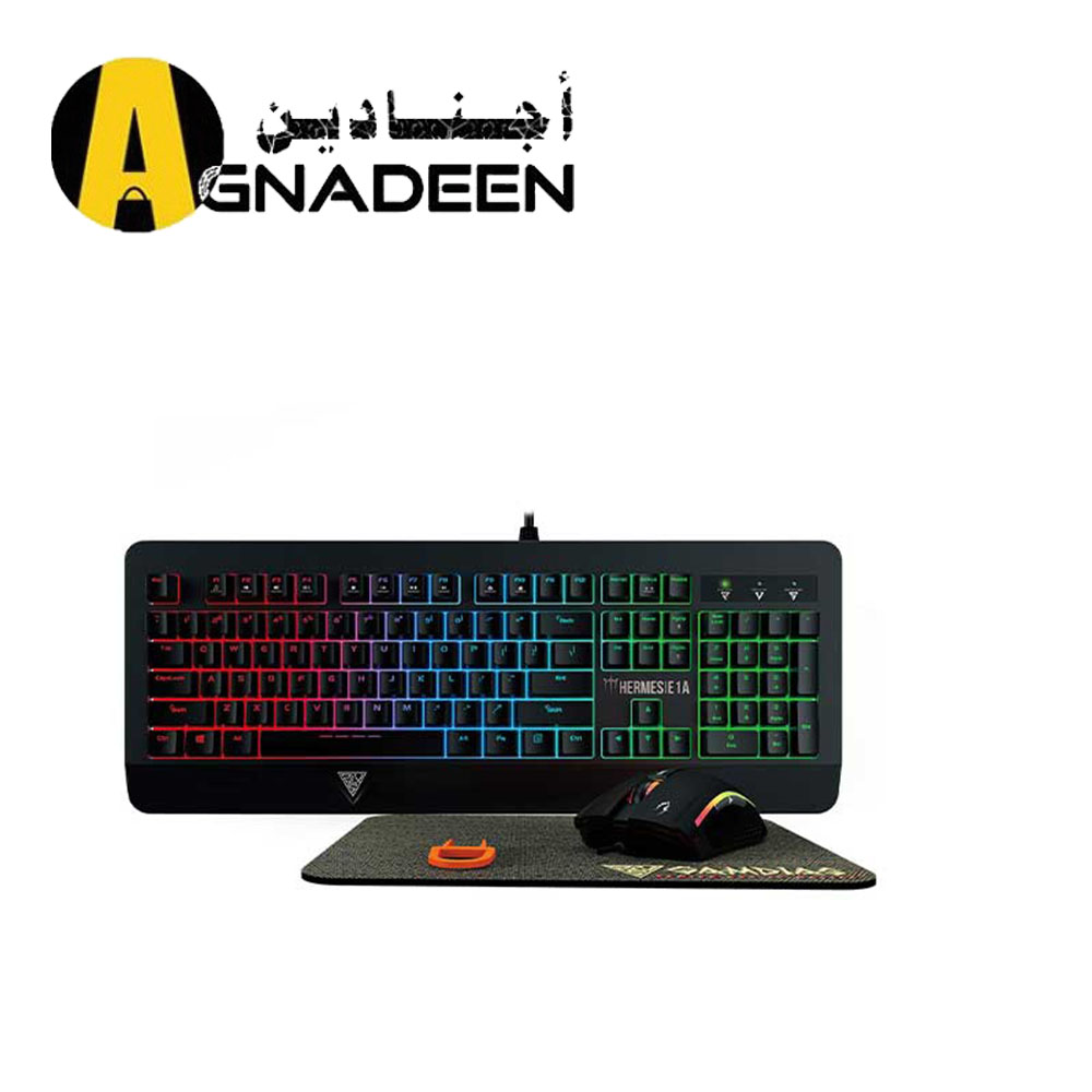 GAMDIAS Hermes E1A Mechanical Gaming Keyboard Spill Resistant with Zeus E2 Optical Mouse and NYX E1 Mouse Mat
