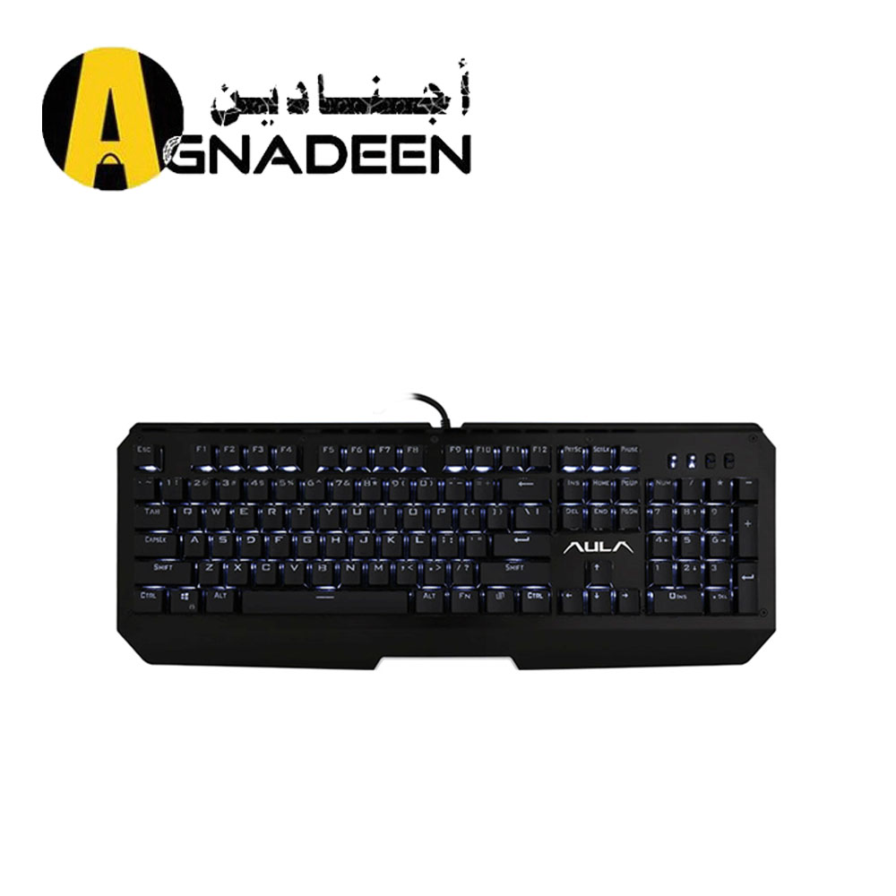 Mechancial Keyboard Black cover Black keycap Blue switch white Light SI2040