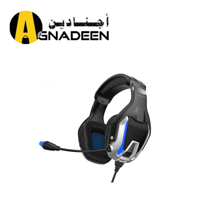 ONIKUMA K12 Stereo Gaming Headset for PC Consoles and Mobiles with LED Light Black Blue
