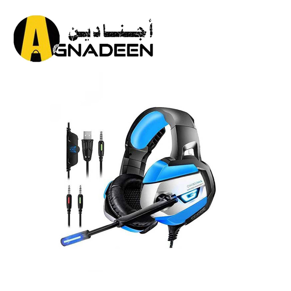ONIKUMA K5 Gaming Headset for PS4 Xbox One Nintendo Switch Audio K5-Blue