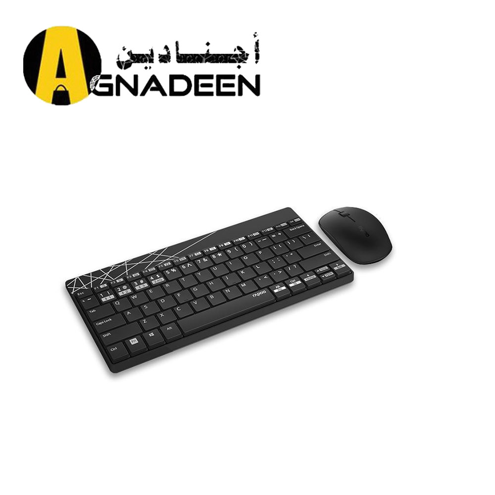 Rapoo 8000M Wireless Bluetooth 3.0 4.0 Keyboard And Mouse Combo