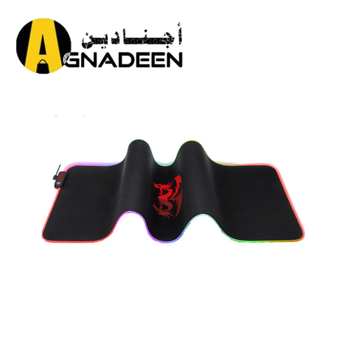 Redragon P027 RGB Wired Mouse Pad Non-slip Rubber Base Stiched Edges 800 x 300 x 3mm