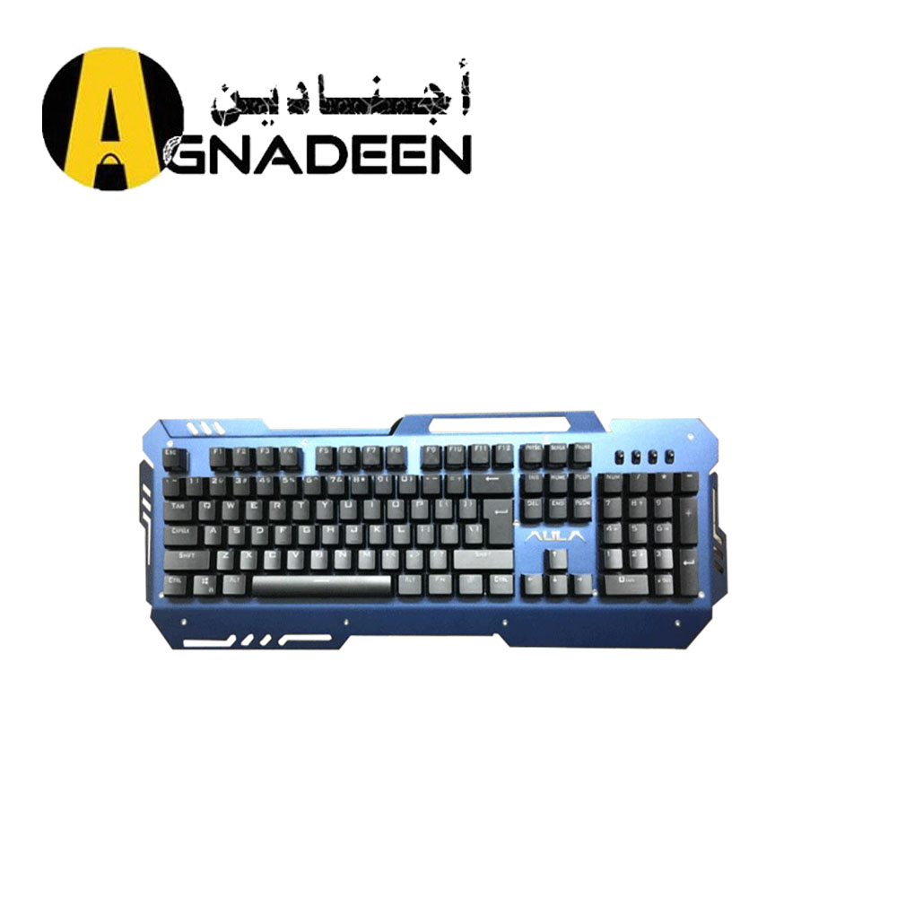 KEYBOARD AULA MECHANCAIL SI-2009S BLUE BLACK RAINBOW